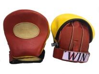 yellow and red speed mitt